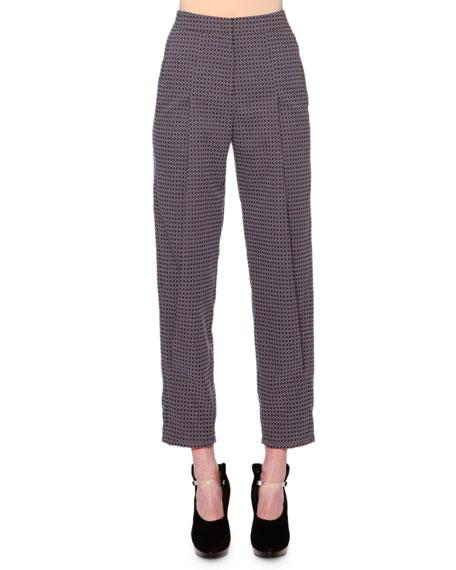 Giorgio Armani Geometric Jacquard Pants, Lavender/Gray