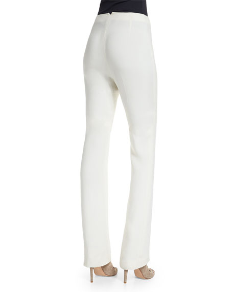 Desmond Slim-Leg Pants, Cream