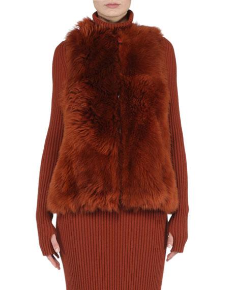 Fendi Reversible A-Line Fur Vest, Rust