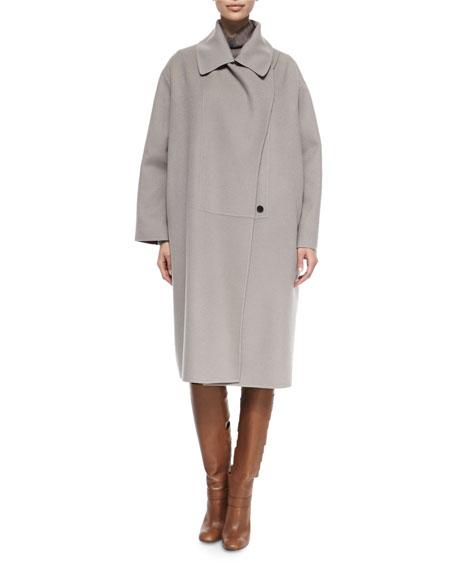 Double-Faced Cashmere Cape Coat