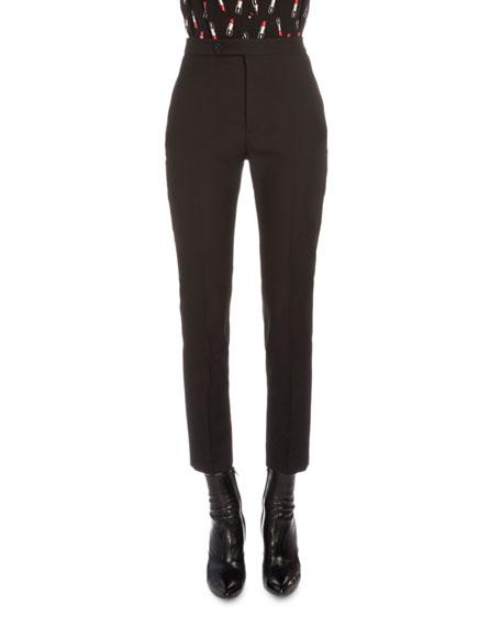Saint Laurent Slim-Fit Flat-Front Gabardine Pants