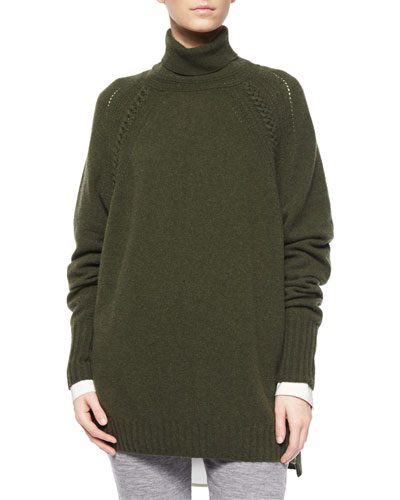Turtleneck Oversized Tunic Sweater