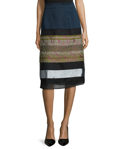 Shamask LONG FOLKLORIC SKIRT MULTI