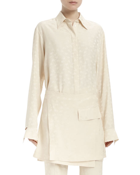 Stella McCartney Long-Sleeve Apron-Front Tunic, Winter Snow