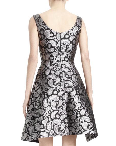 Paisley Asymmetric-Hem Dress