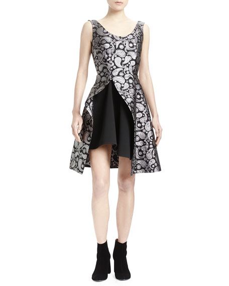 Stella McCartney Paisley Asymmetric-Hem Dress