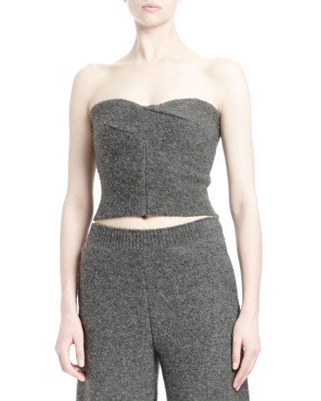 Stella McCartney Melange Knit Strapless Bustier