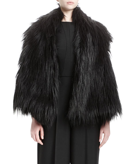 Stella McCartney Lynn Faux-Fur Vest, Black