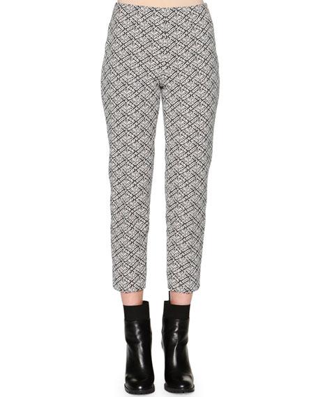 Piazza Sempione Audrey Weave-Pattern Jacquard Cropped Pants