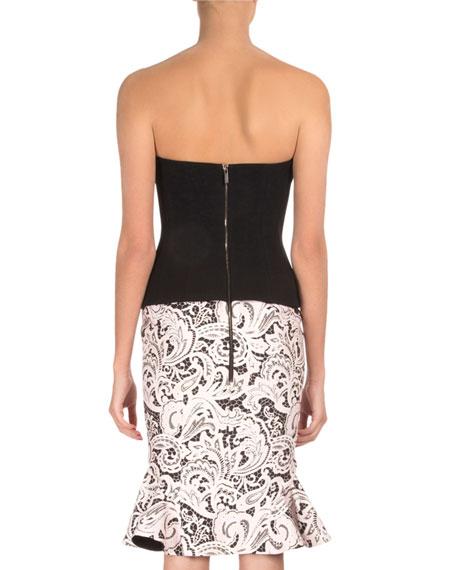 Strapless Printed-Skirt Combo Dress