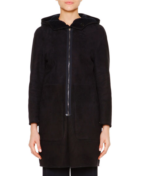 Two-In-One Reversible Shearling Fur Parka