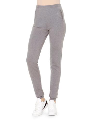 Cashmere Side-Ribbed Jogging Pants