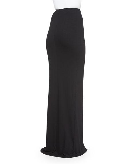Evening Skirt w/Organza Panel, Black