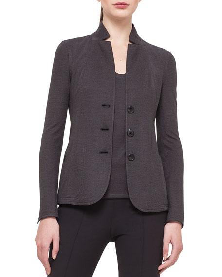 Akris Silk Pique Jersey Reversible Jacket
