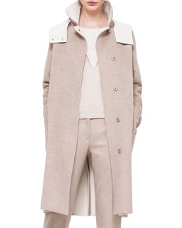 Double-Faced Cashmere Reversible Coat