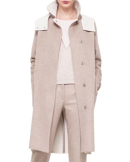 Akris Double-Faced Cashmere Reversible Coat