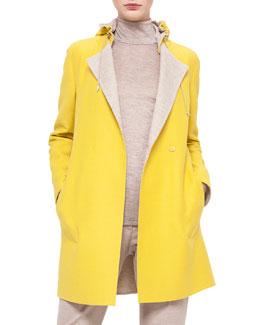 Bicolor Double-Faced Reversible Coat