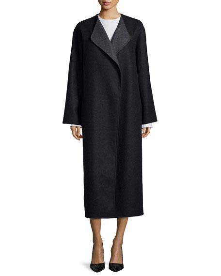 THE ROW Augustus Melange Robe Coat, Black