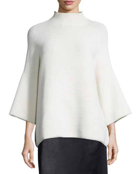 THE ROW Argena Funnel-Neck Knit Sweater, Off White
