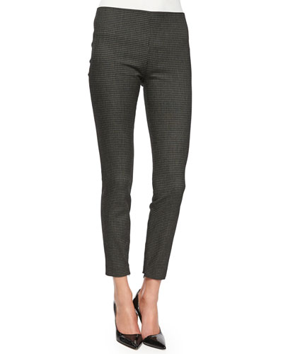 Tiendra Tweed Ankle-Zip Pants