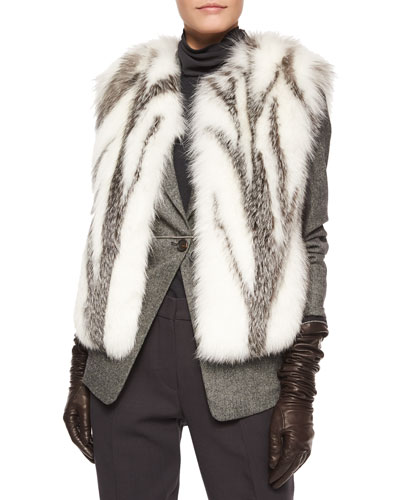Marbled Fox Fur Vest