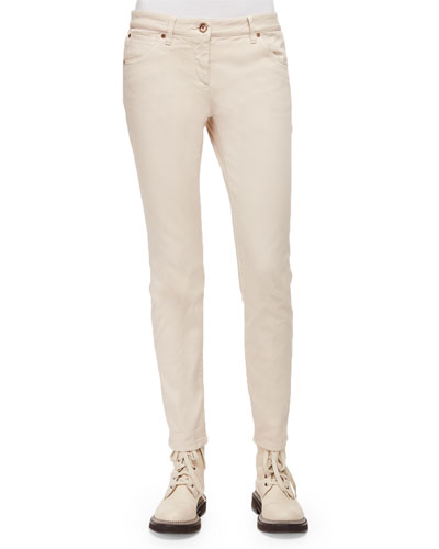 Five-Pocket Skinny Jeans, Vanilla