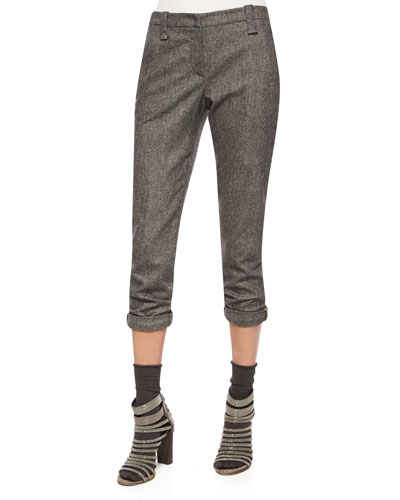 Ankle Pants with Monili Cuffs