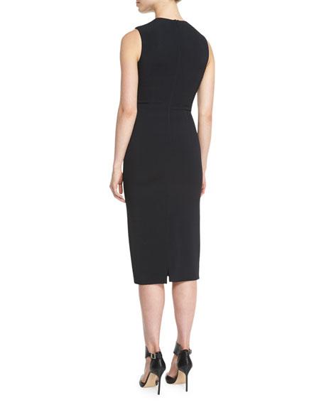 Netted Bandeau Sheath Dress
