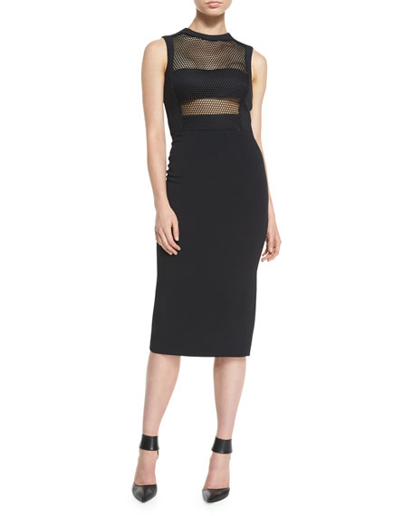 Cushnie Et Ochs Netted Bandeau Sheath Dress