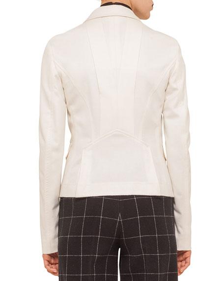 Two-Button Flap-Pocket Blazer