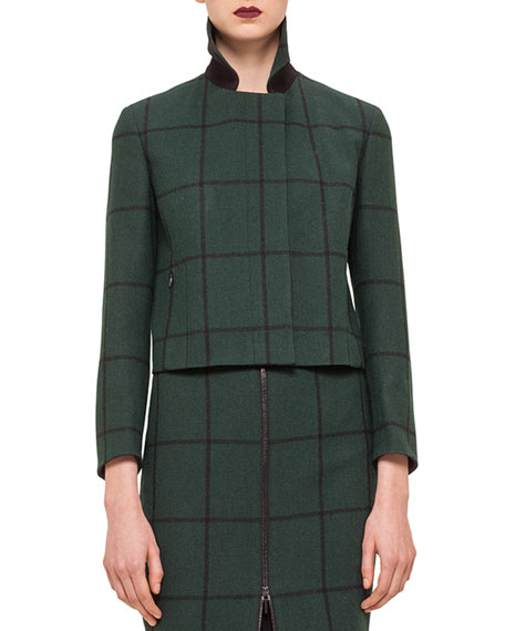 Akris punto 3/4 SLV CROPPED BOXY JACKET