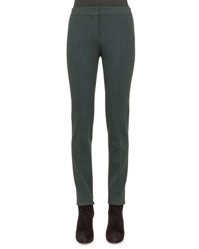 Mara Seamed Skinny Jersey Pants, Bottle