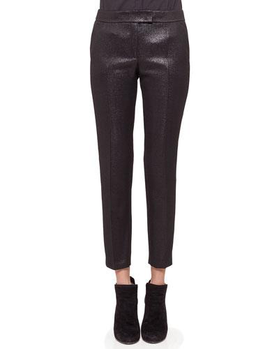 Frankie Skinny Cropped Pants, Black
