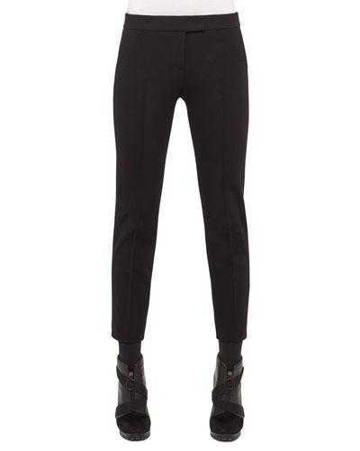 Mara Skinny Knit Pants, Charcoal