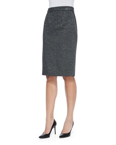 Escada Metallic Pencil Skirt, Anthracite