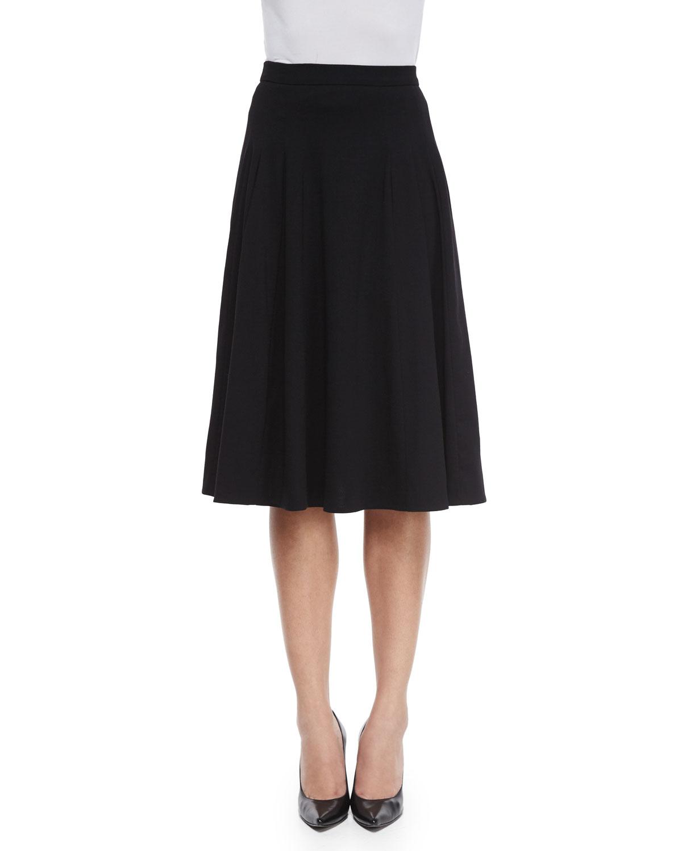 7c9d88560 Escada Mid-Length Circle Skirt, Black   Neiman Marcus