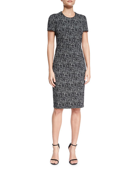 Burberry London Shift Dress W/French Darts, Black/White