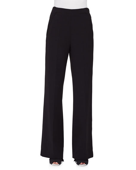 Proenza Schouler High-Waist Wide-Leg Pants, Black