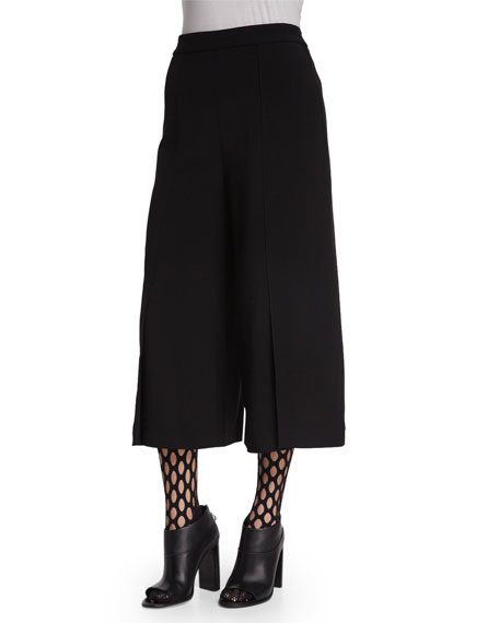 Proenza Schouler Wide-Leg Culotte Pants, Black