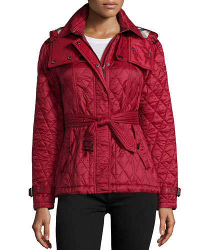 Finsbridge Check-Lined Short Quilted Coat