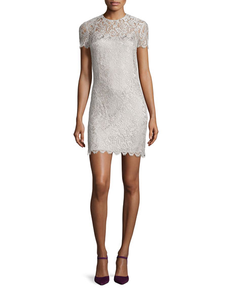 Ralph Lauren Black Label Pacey Lace Shift Dress,