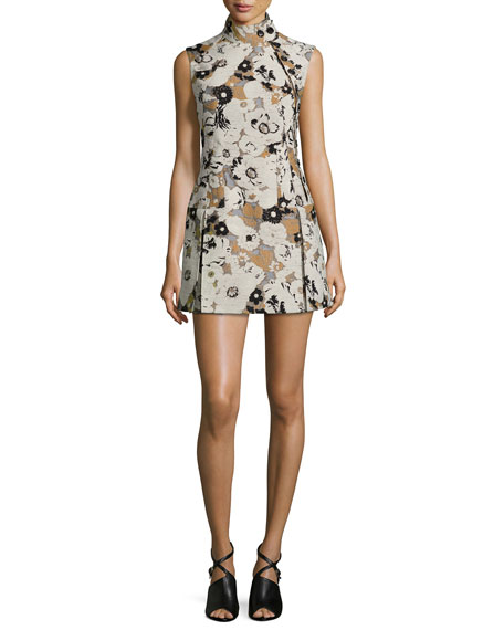 Creatures of the Wind Floral Brocade Side-Button Drop-Waist