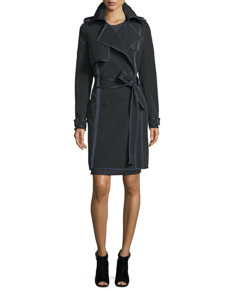 Woven Double-Breasted Trenchcoat