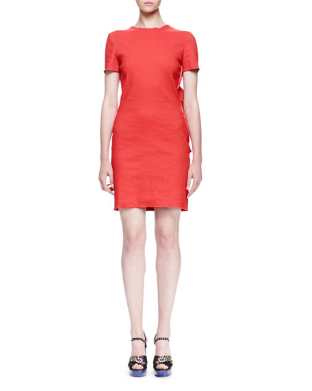 Lanvin Bow-Back Shantung Dress