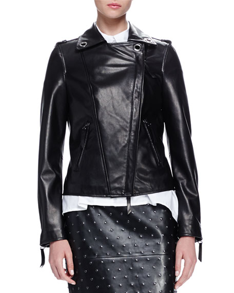 Lanvin Grommet-Detailed Leather Jacket