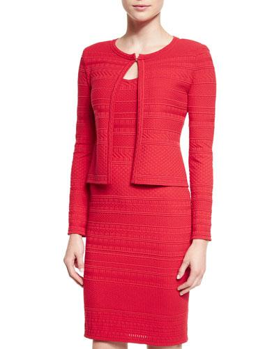 Colette Knit Jewel Neck Cardigan, Granita