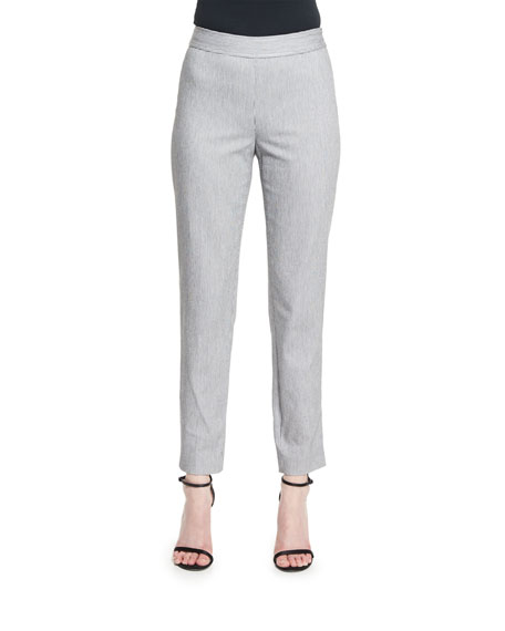St. John Collection Emma Ticking Stripe Cropped Pants