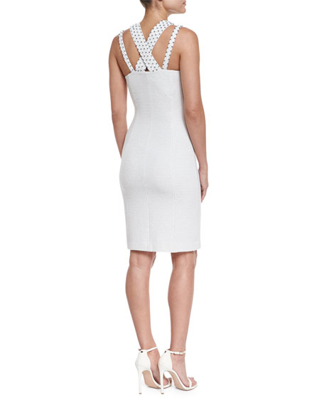 Triade Knit Halter Dress w/ Embellished Straps