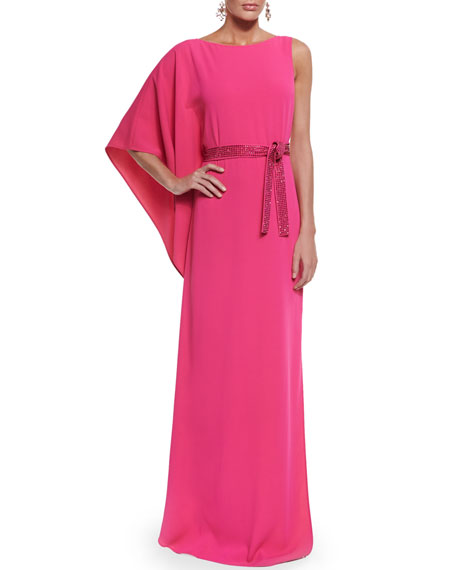 St. John Collection Classic Cady Gown w/ Sequined