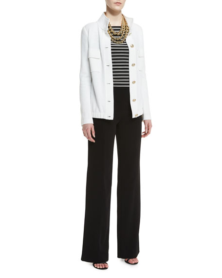 Diana Classic Cady Wide-Leg Sailor Pants